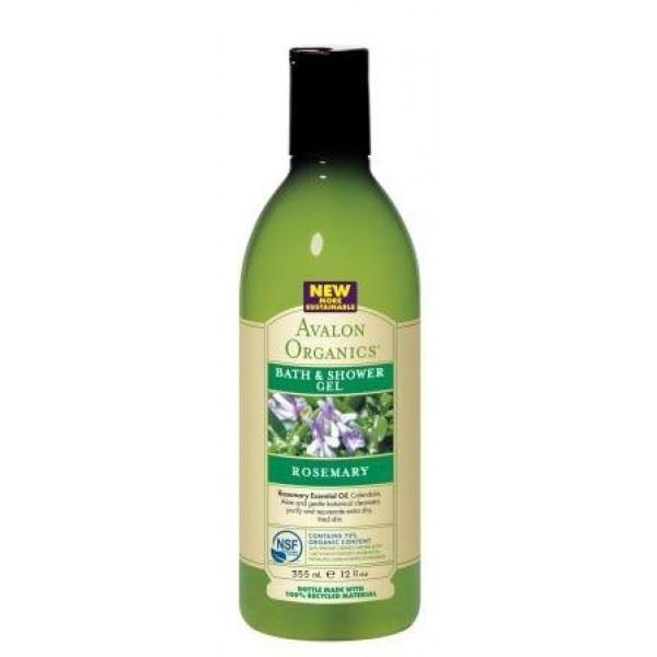 Гель Avalon Organics Rosemary Bath & Shower Gel avalon organics мини гель для ванны и душа с маслом лаванды avalon organics lavender gel travel size av35474 1 шт