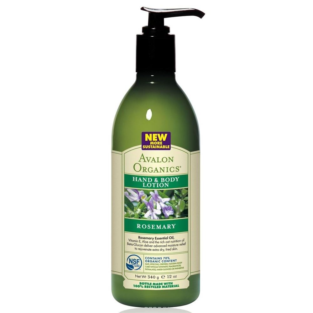 Лосьон Avalon Organics Rosemary Hand & Body Lotion лосьон для тела avalon organics ylang ylang объем 360 мл