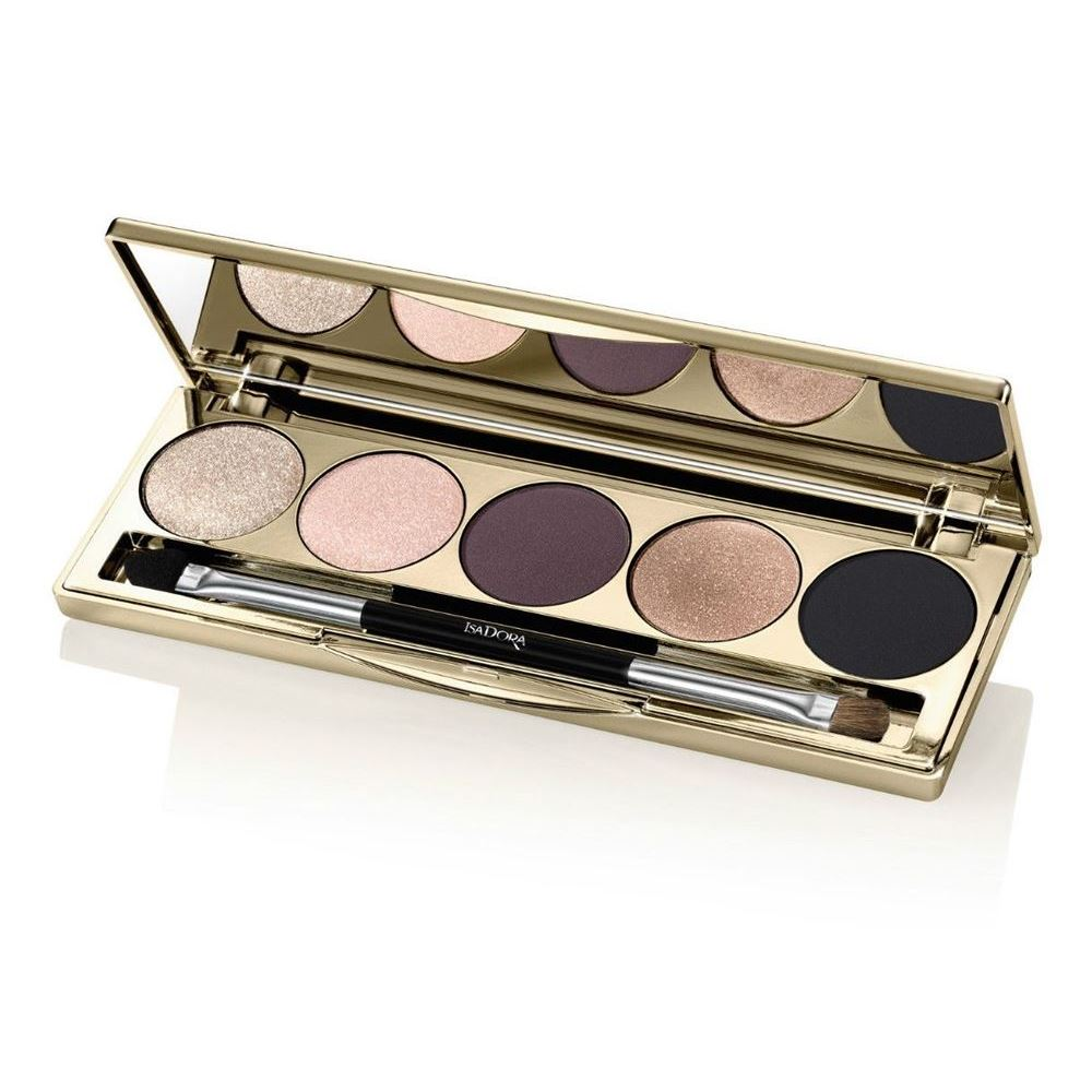 Тени для век IsaDora Eye Shadow Palette (66 Golden Edition) тени для век isadora eye shadow quartet 03 цвет 03 urban green variant hex name a19388