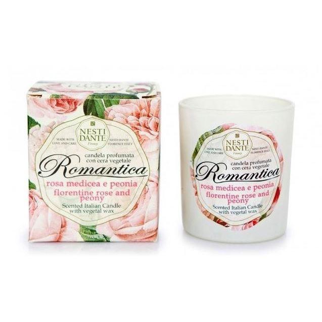 Аромамедальон Nesti Dante Свеча Romantica Роза и Пион (160 гр) мыло флорентийская роза пион nesti dante мыло флорентийская роза пион