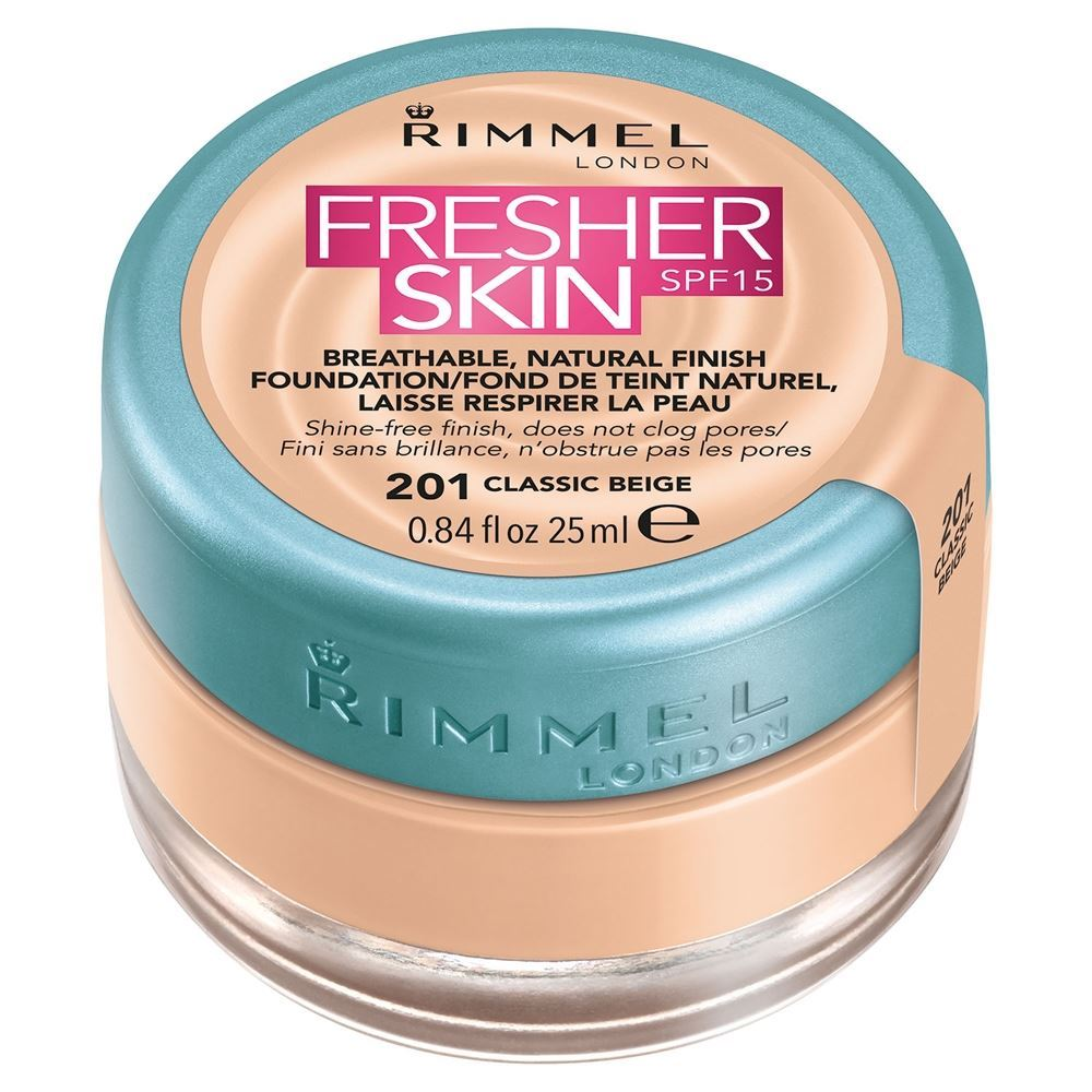 Тональный крем Rimmel Fresher Skin SPF 15 (200,  Soft Beige) тональные кремы rimmel тональный крем матирующий stay matte тон 200 soft beige