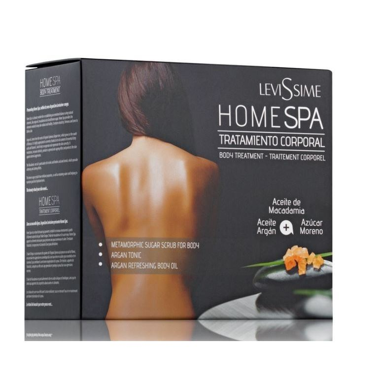 Набор Levissime Home Spa Body Pack  (Набор: скраб, 200 мл + тоник, 250 мл + масло, 125 мл) масло levissime argan refreshing body oil 125 мл