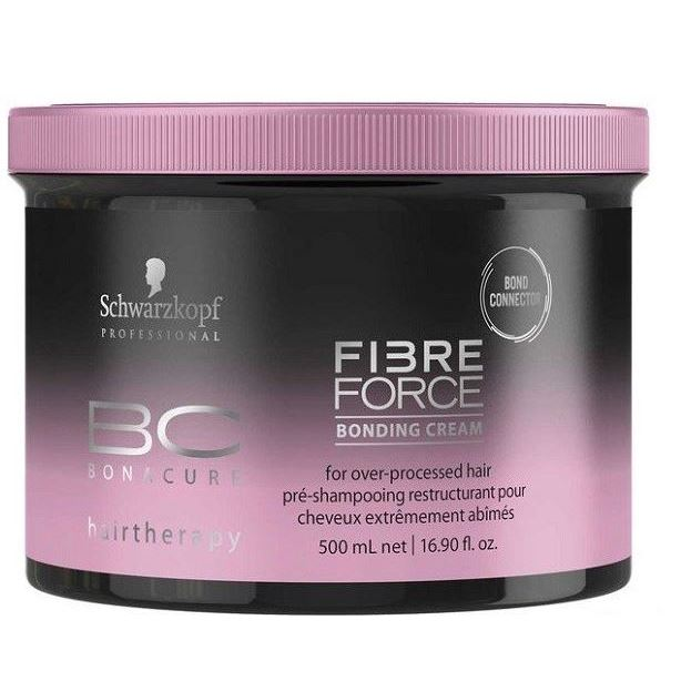 Крем Schwarzkopf Professional Fibre Force. Bonding Cream 500 мл крем schwarzkopf professional 3 strong control tame wild smoothing anti frizz cream 150 мл