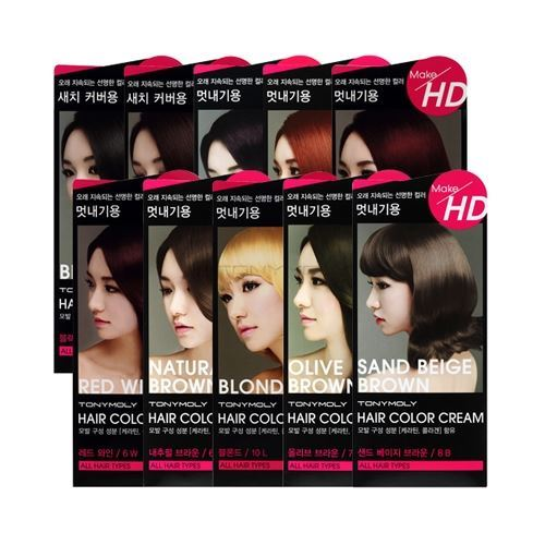 Краска для волос Tony Moly Make HD Hair Color Cream (8OR) спонж tony moly water latex free sponge 1 шт