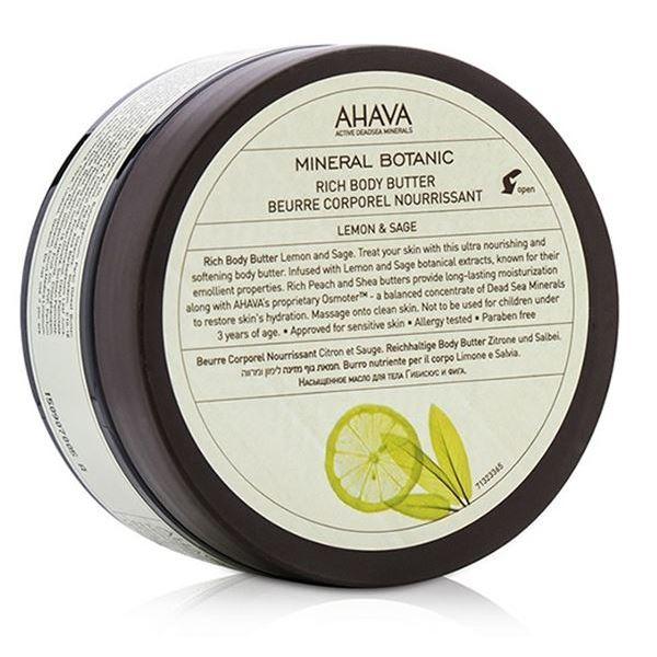 Масло Ahava Масло насыщенное для тела лимон шалфей (235 г) масло ahava mineral botanic rich body butter lotus