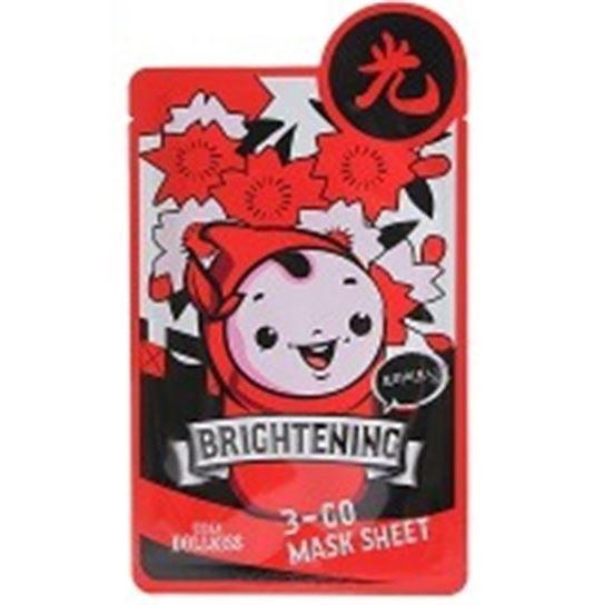 Маска Baviphat Urban Dollkiss 3-GO Mask Sheet Brightening (1 шт) baviphat urban dollkiss the mask tea tree blemish маска тканевая с экстрактом чайного дерева 25 г