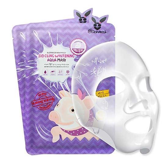 Маска Elizavecca Bio Cling Whitening Aqua Mask маска черная из никеля с имитацией кристаллов entice mystique mask black