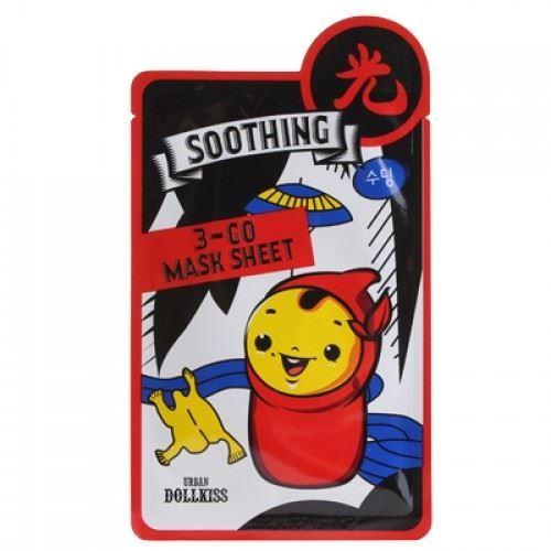 Маска Baviphat Urban Dollkiss 3-GO Mask Sheet Soothing (1 шт) baviphat urban dollkiss the mask tea tree blemish маска тканевая с экстрактом чайного дерева 25 г