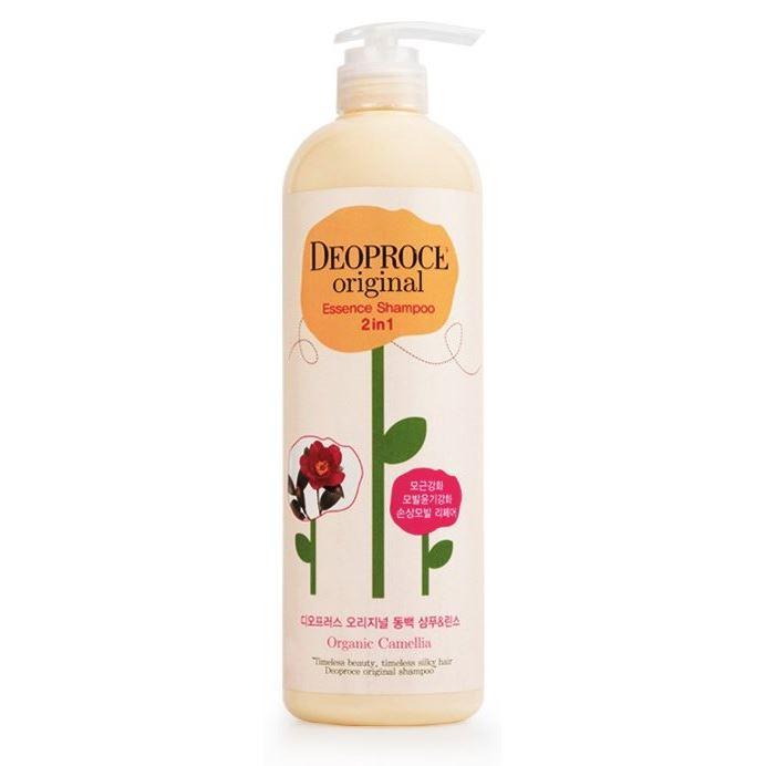 Шампунь Deoproce Original Essence 2 in 1 Shampoo Camellia 1000 мл хайлайтер essence 2 in 1 highlight