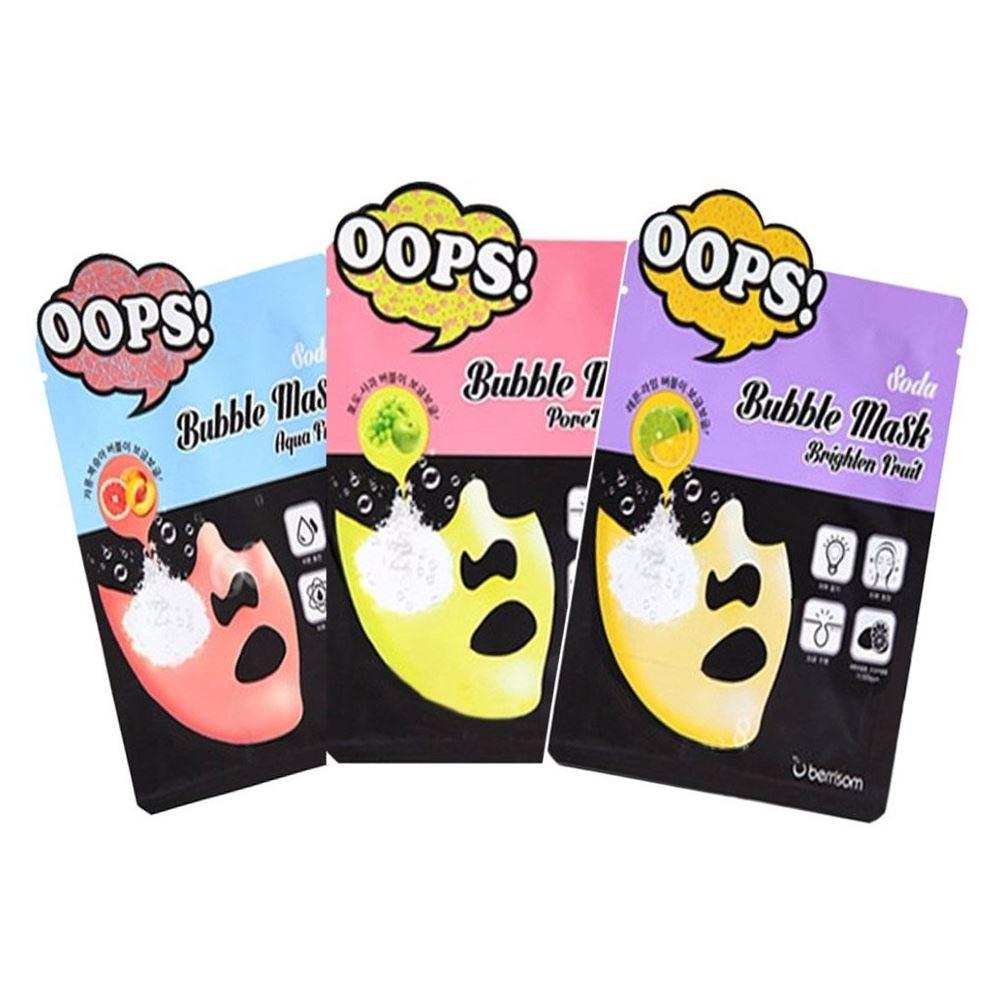 Маска Berrisom Oops Soda Bubble Mask (PoreTox Fruit ) berrisom гель для губ с тату эффектом oops angel lip tattoo 04 цвет 04 shy azalea