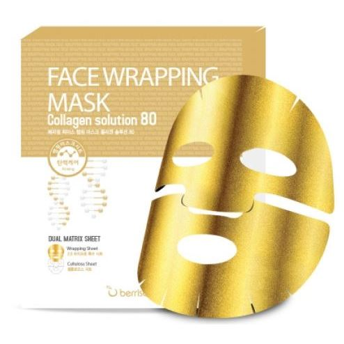 Маска Berrisom Face Wrapping Mask Collagen Solution 80 (1 шт) нolika holika ночная маска для лица pig collagen jelly pack 80 г