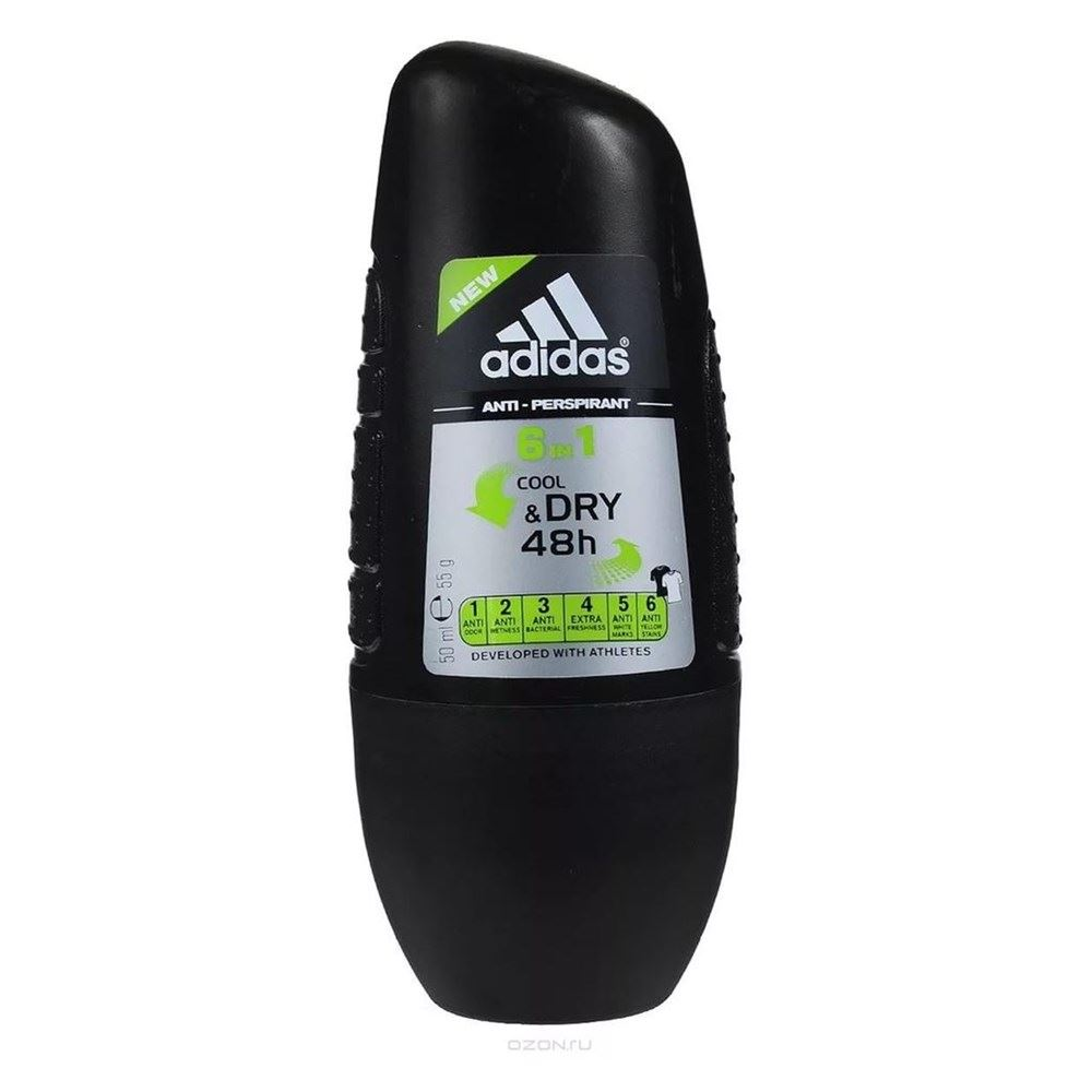 Дезодорант Adidas Anti-Perspirant Roll-Ons Male Cool&Dry 6 In 1 50 мл