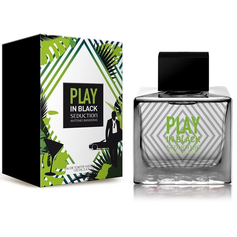 Туалетная вода Antonio Banderas Play In Black Seduction For Men 100 мл antonio banderas seduction in black splash 100 ml