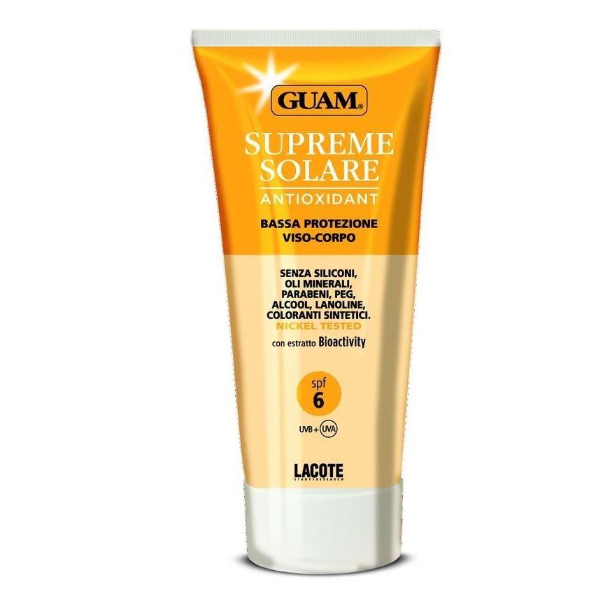Крем Guam Солнцезащитный крем Supreme Solare SPF 6 150 мл beautymed солнцезащитный крем spf 30 beautymed 50 мл