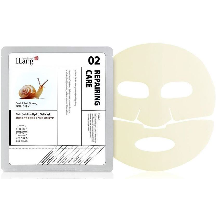 Маска LLang Skin Solution Hydro Gel Mask (Snail & Red Ginseng)