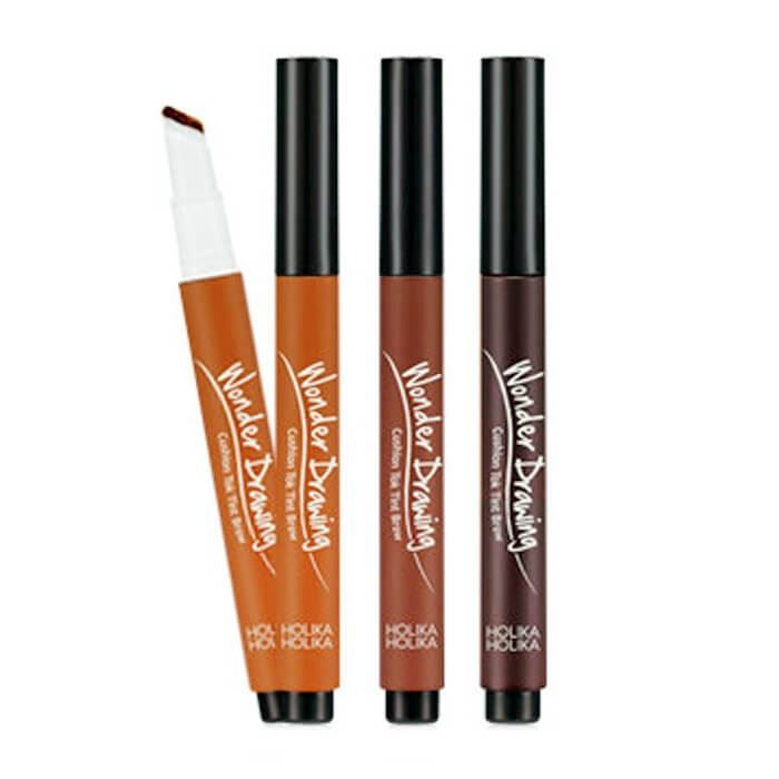 Корректоры Holika Holika Wonder Drawing Cushion Tok Tint Brow (02 Dark Brown) holika holika soda tok tok clean pore deep cleansing foam пенка глубоко очищающая для лица 150 мл