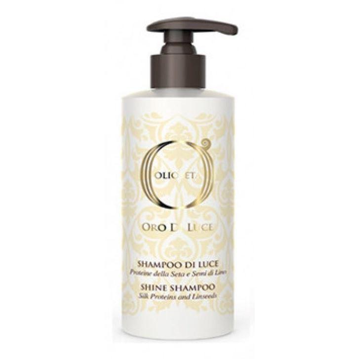 Шампунь Barex Olioseta Oro Di Luce Shine Shampoo 750 мл barex воск моделирующий olioseta oro del morocco cera modellante olio di argan e di sacha inchi 100мл