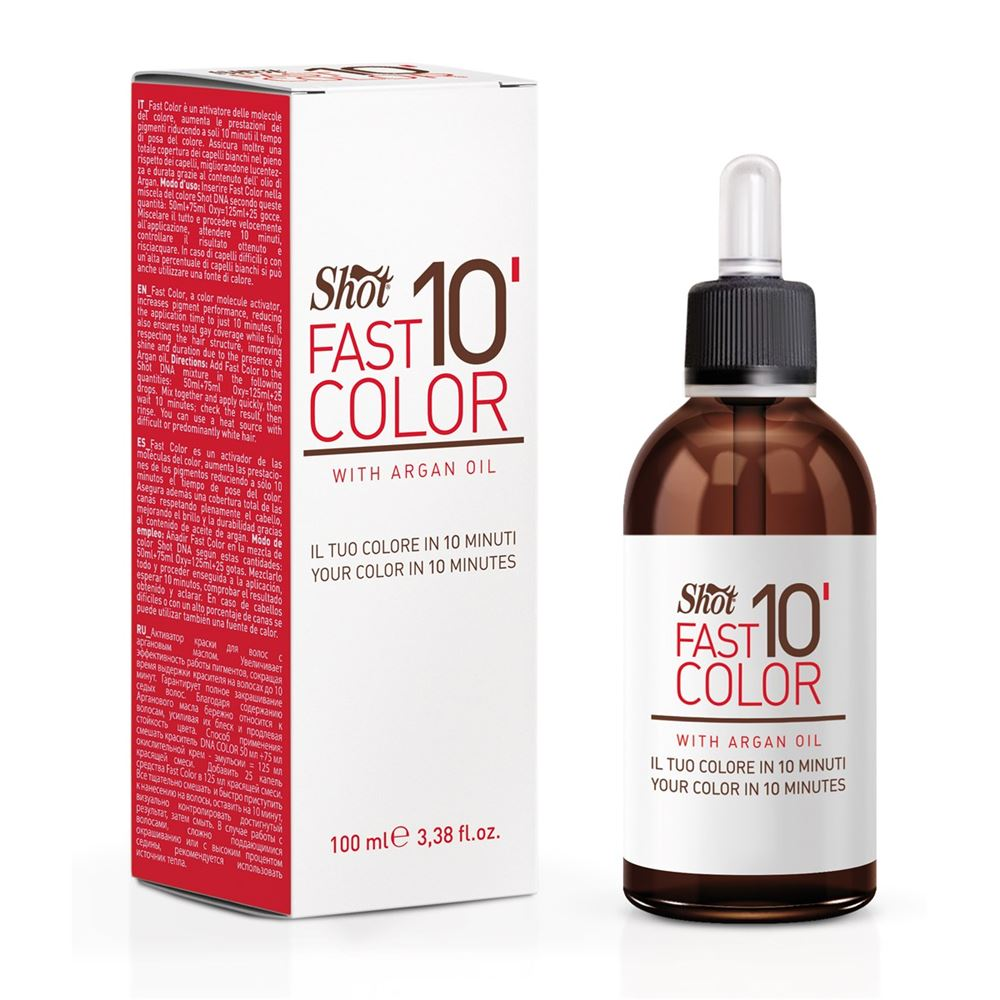 Эмульсия Shot Fast Color 10' With Argan Oil 50 мл масло kativa morocco argan oil nuspa масло