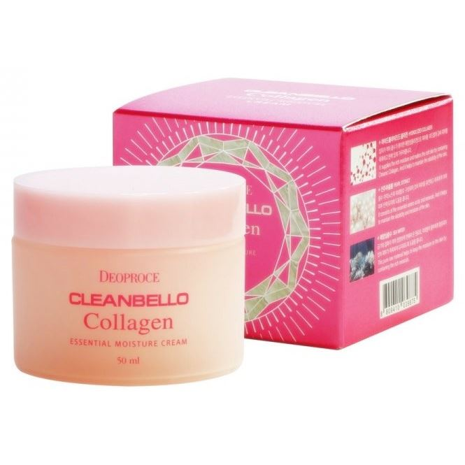 Крем Deoproce Cleanbello Collagen Essential Moisture Cream 50 мл the yeon lotus roots 365 moisture bubble cream крем для лица увлажняющий 50 мл