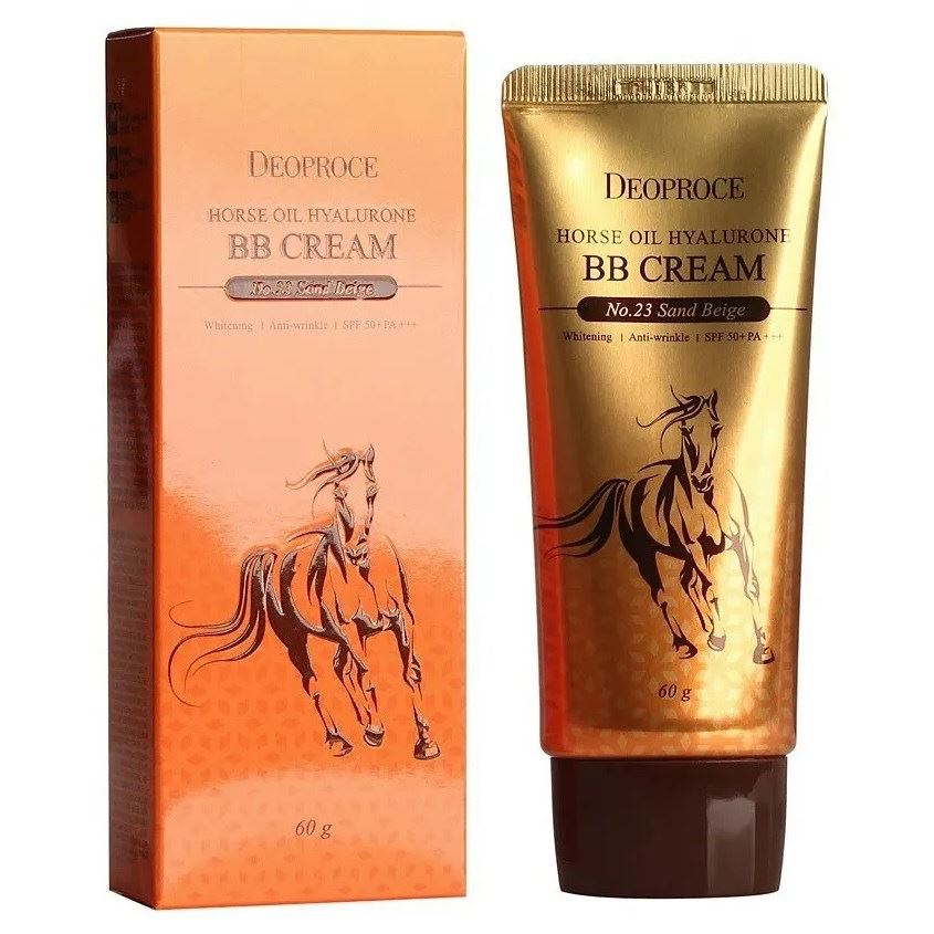 Тональный крем Deoproce Horce Oil Hyalurone ВВ Cream SPF50+PA+++ (23) крем deoproce daily a mink oil deep nutrition cream 50 г