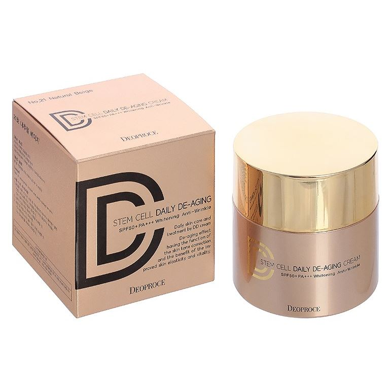 Тональный крем Deoproce Stem Cell Daily DE-Aging Cream SPF50+PA+++ (23) лак для ногтей sally hansen sally hansen sa035lwoyg03