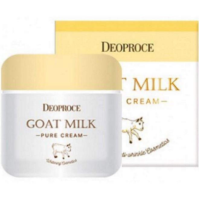 Крем Deoproce Goat Milk Pure Cream (50 г) крем deoproce daily a mink oil deep nutrition cream 50 г