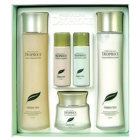 Набор: Набор Deoproce Premium Green Tea Total Solution Skin Care 3 Set premium en shi yu lu jade dew green tea 100g 3 5oz