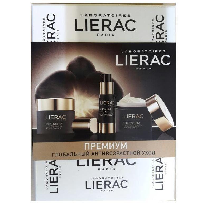 Набор Lierac Set Lierac Premium 2017 (Набор: крем д/контура глаз, 3 мл + крем Бархатистый, 15 мл + крем ориг.текстура, 15 мл) lierac премиум маска с гиалуроновой кислотой 75 мл premium
