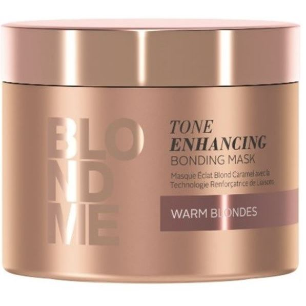 Маска Schwarzkopf Professional Tone Enhancing Bonding Mask Warm Blondes 200 мл шампунь schwarzkopf blondme color enhancing blonde shampoo all blondes light smoothing care объем 250 мл