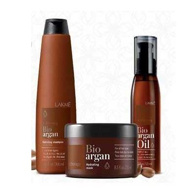 Набор LakMe Bio-Argan Set (Набор: шампунь, 300 мл + маска, 250 мл + масло, 125 мл) масло levissime argan refreshing body oil 125 мл
