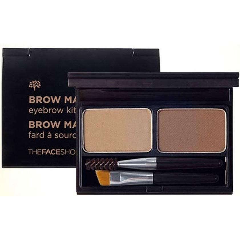 Палетки The Face Shop Brow Master Eyebrow Kit (02) трафареты kiss go brow eyebrow stencils sexy look