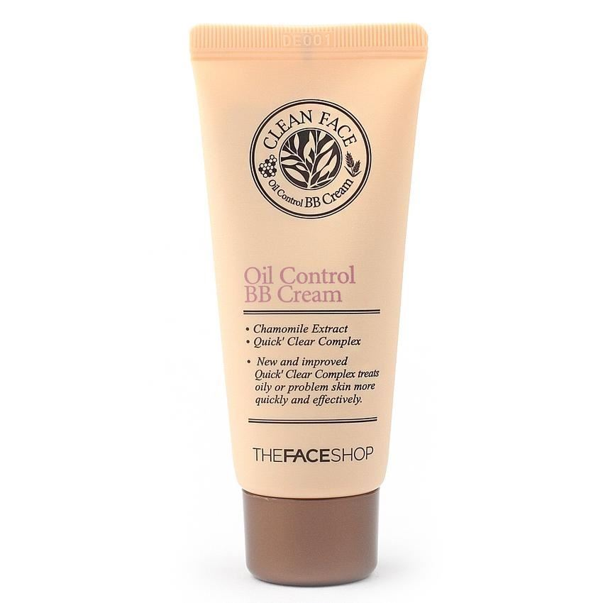 Тональный крем The Face Shop Clean Face Oil Control BB Cream bb крем the face shop photo blur bb cream spf37 pa объем 40 мл