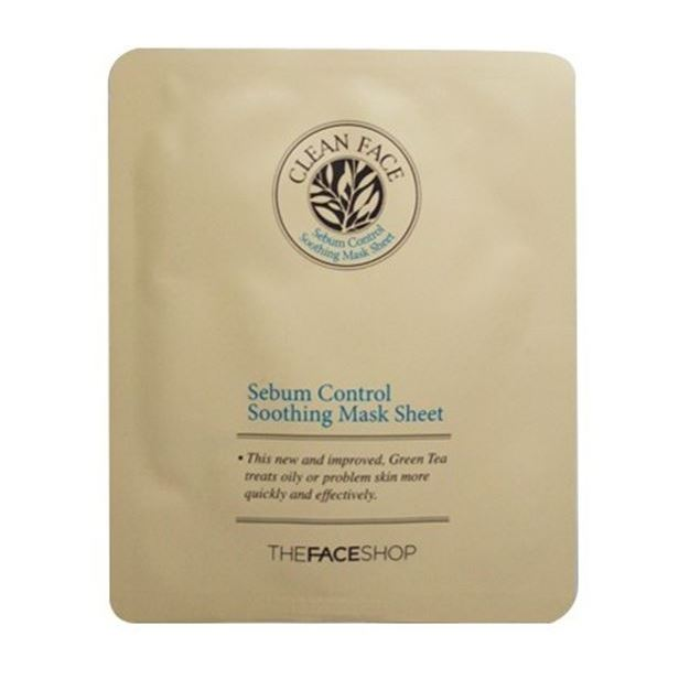 Маска The Face Shop Clean Face Sebum Control Soofing Mask Sheet (1 шт) the face shop маска для носа jeju volcanic lava peel off clay nose mask объем 50 г
