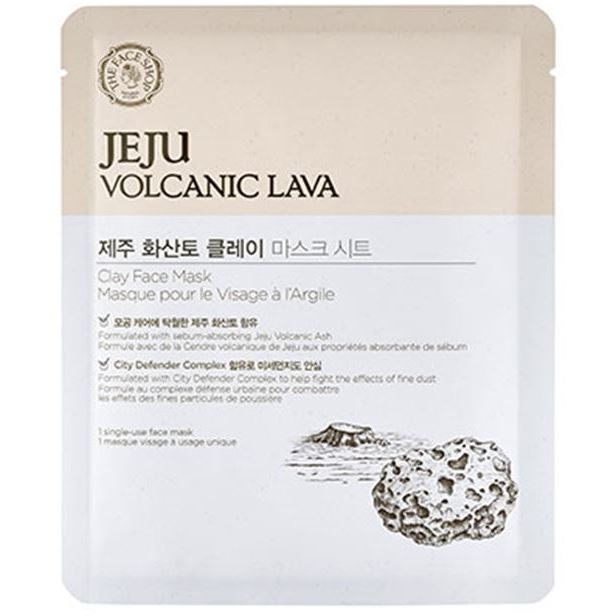 Маска The Face Shop Jeju Volcanic Lava Clay Face Mask (1 шт) пенка the face shop jeju volcanic lava pore cleansing foam объем 150 мл