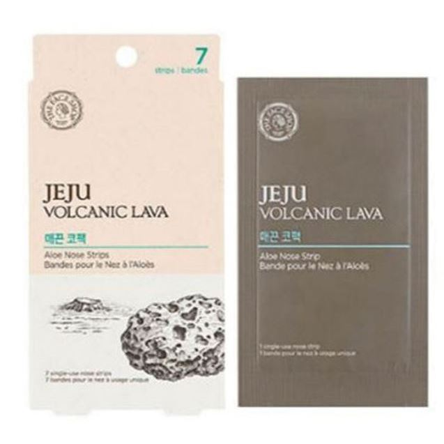 Пластырь The Face Shop Jeju Volcanic Lava Aloe Nose Strips (1 шт) пенка the face shop jeju volcanic lava pore cleansing foam объем 150 мл