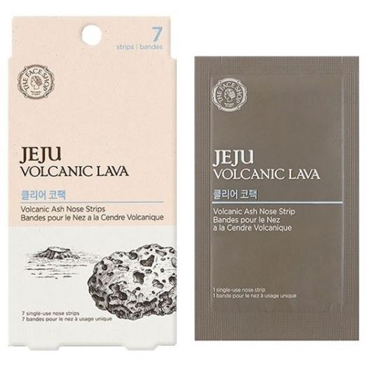Пластырь The Face Shop Jeju Volcanic Lava Volcanic Ash Nose Strips (7 шт) пенка the face shop jeju volcanic lava pore cleansing foam объем 150 мл