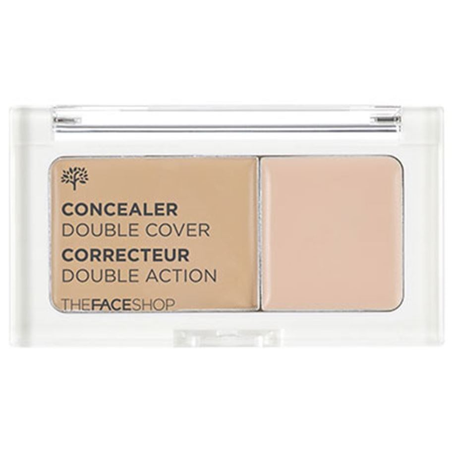 Корректоры The Face Shop Concealer Double Cover (V201 Apricot Beige) корректоры the face shop designing browcara mascara