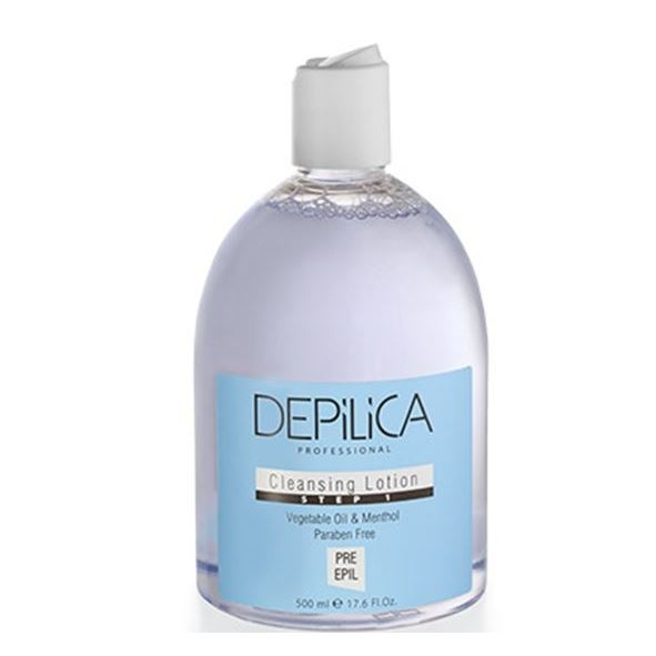 Лосьон Depilica Professional Cleansing Lotion (Step 1) 500 мл крем depilica professional foot cream step 5 200 мл