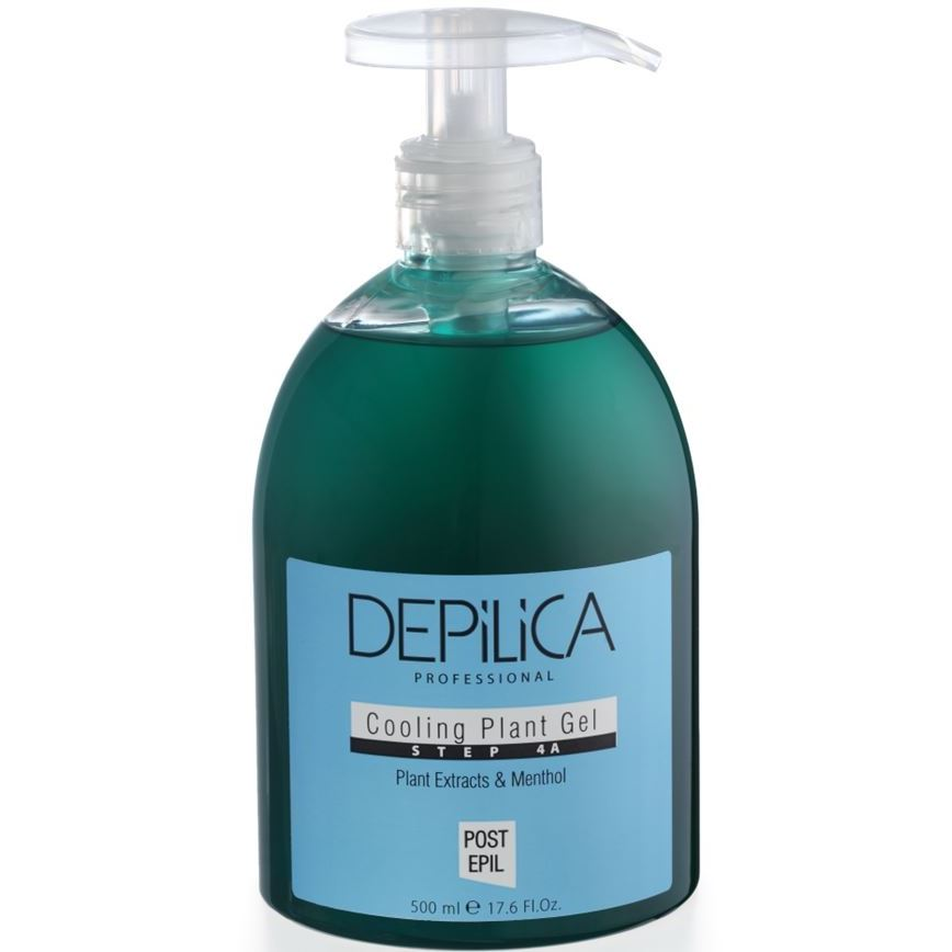 Гель Depilica Professional Cooling Plant Gel (Step 4A) 500 мл крем depilica professional foot cream step 5 200 мл