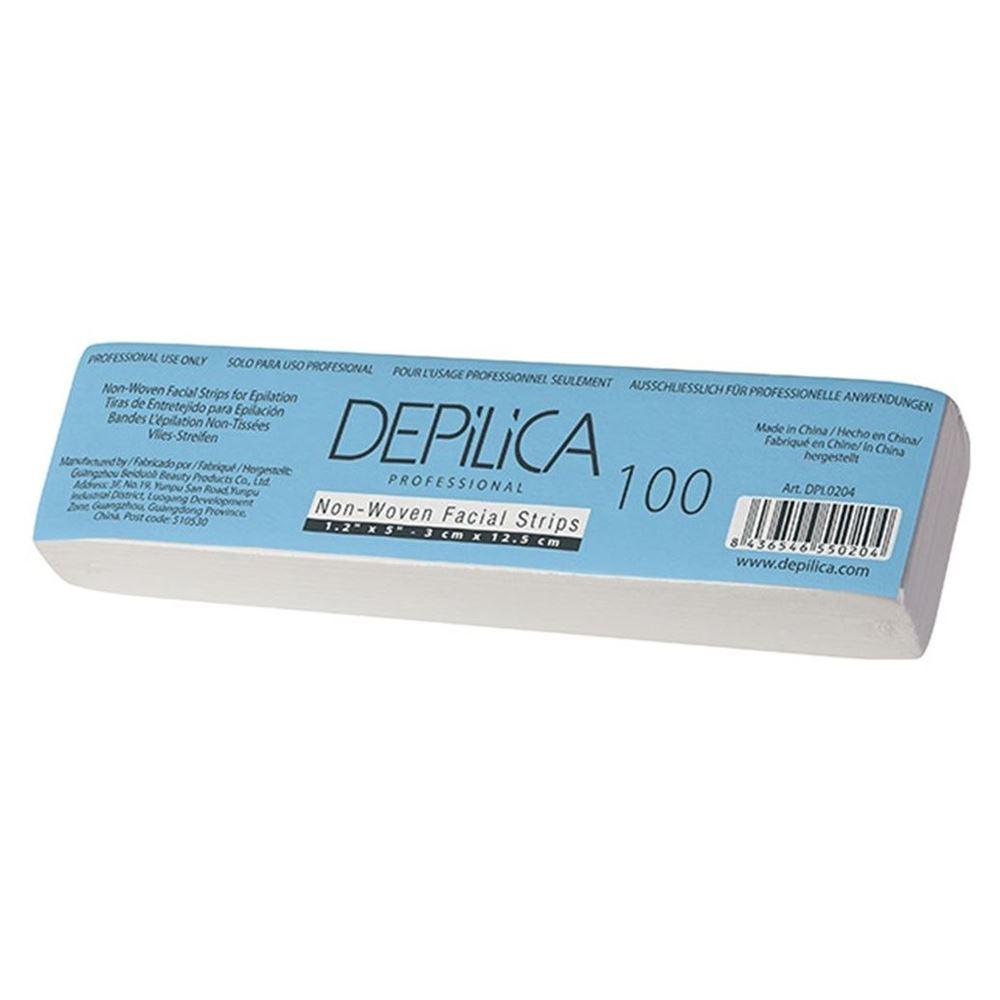 Сопутствующие товары Depilica Professional Non-Woven Facial Strips (100 шт) крем для эпиляции на лице для женщин