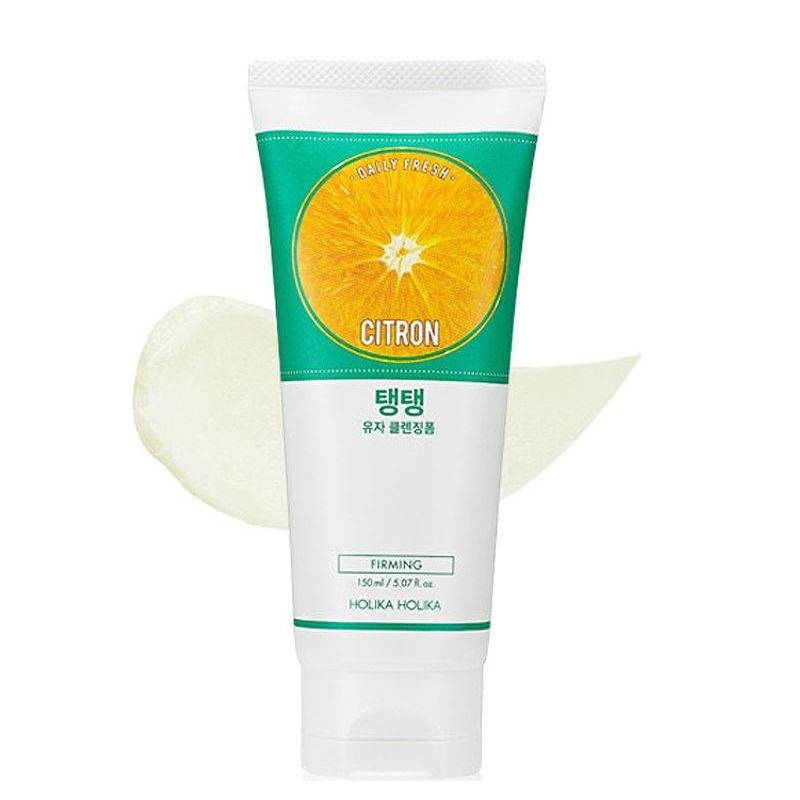 Пенка Holika Holika Daily Fresh Citron Cleansing Foam  150 мл holika holika soda tok tok clean pore deep cleansing foam пенка глубоко очищающая для лица 150 мл