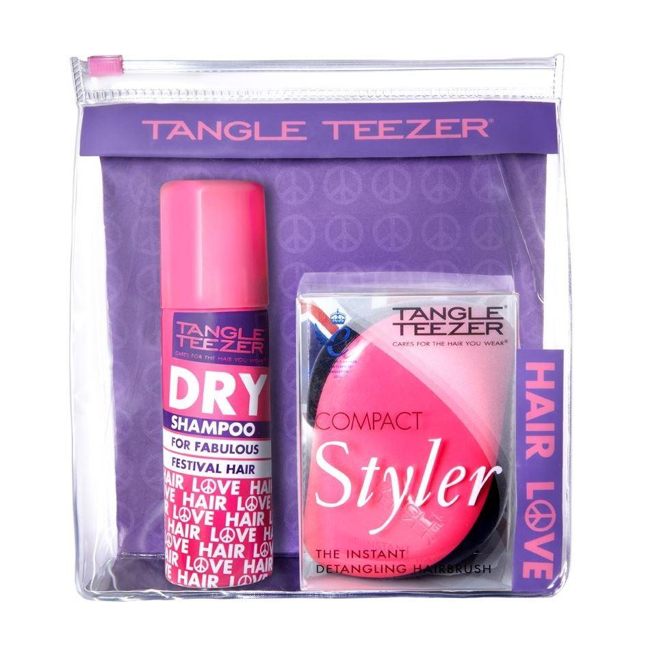 Набор Tangle Teezer Compact Styler Festival Pack (Набор: сухой шампунь + расческа, 1 шт.) tangle teezer расческа для волос salon elite yellow