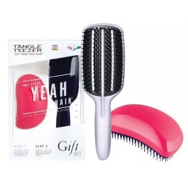 Набор: Расческа Tangle Teezer Salon Elite Prepare & Perfect Gift Set  (Набор: 2 шт.) tangle teezer расческа для волос salon elite yellow
