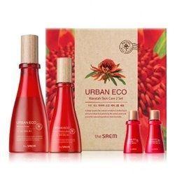Набор The Saem Urban Eco Waratah Skin Care 2 Set (Набор: тонер, 180 мл и 20 мл + лосьон, 140 мл и 20 мл) крем the saem urban eco waratah cream 60 мл