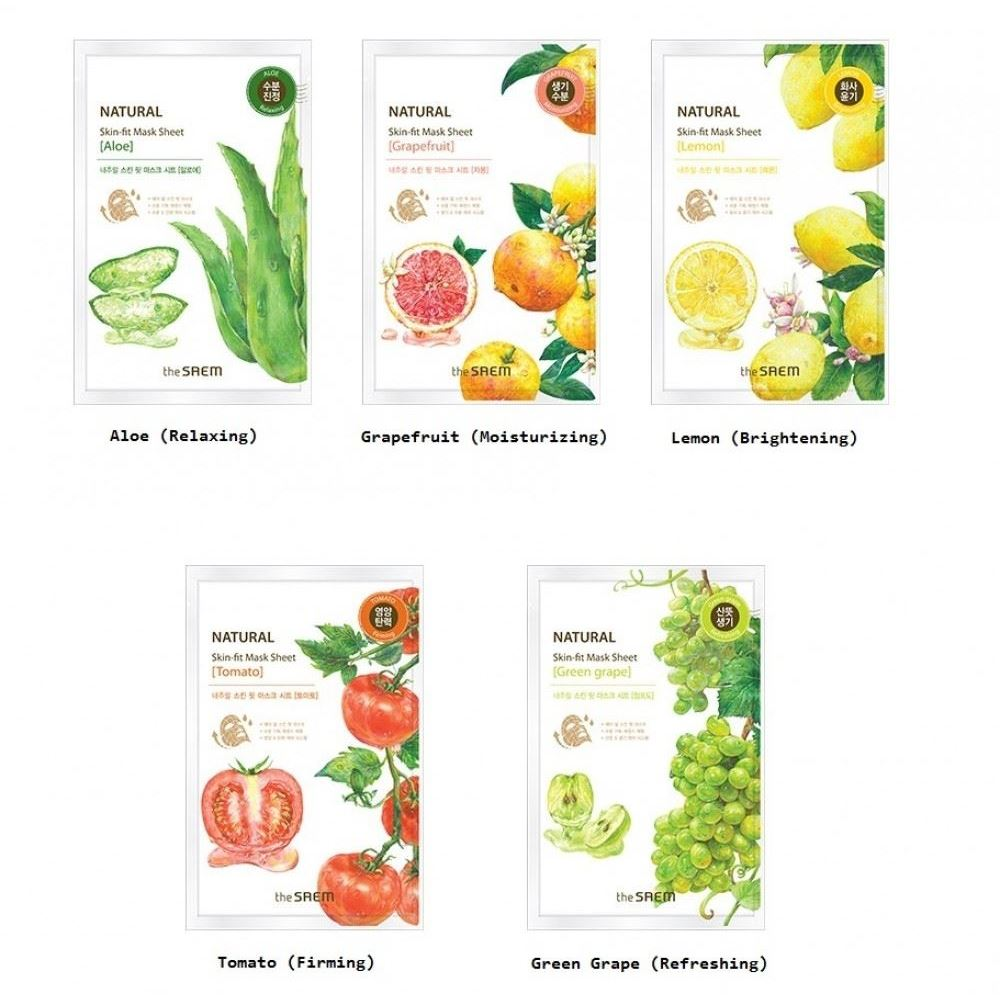 Маска The Saem Natural Skin Fit Mask Sheet (Tomato) the saem pure natural mask sheet donky milk