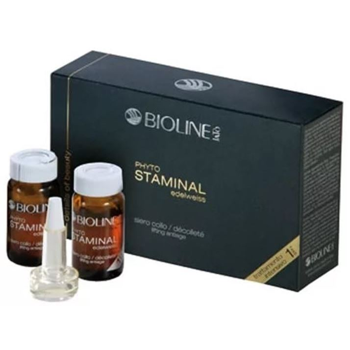 Сыворотка Bioline JaTo Phyto Staminal Edelweiss Neck/Decollete Serum. Phase-1 8 мл набор набор bioline jato beauty gift ag3