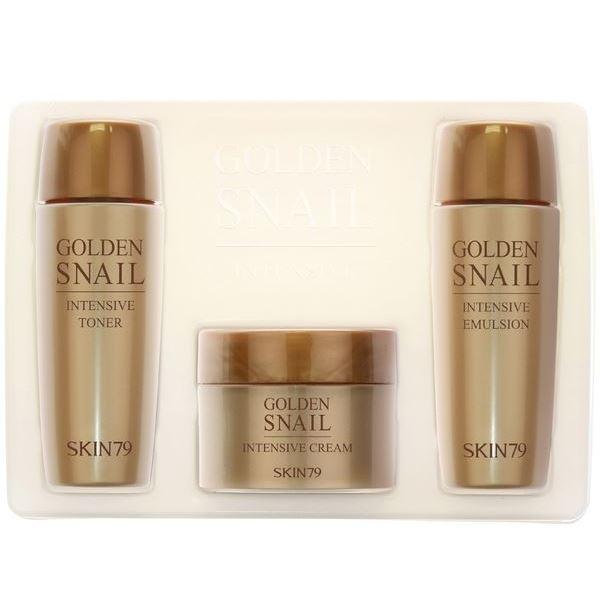 Набор Skin79 Golden Snail Intensive Miniature Set (Набор: тонер, 20 мл + эмульсия, 20 мл + крем, 15 г) брелоки golden snail автомобильное зарядное устройство цвет golden snail