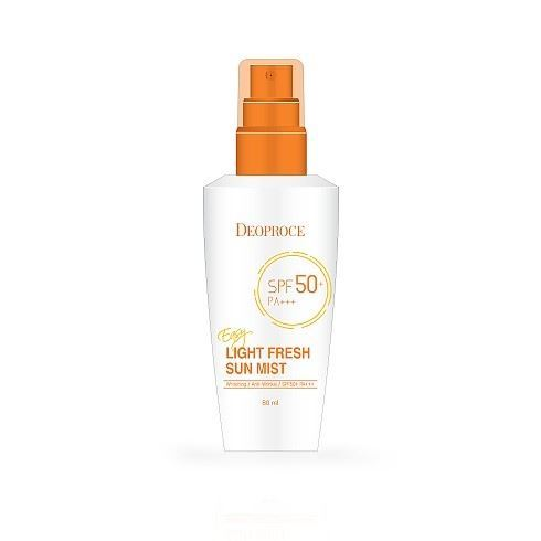 Спрей Deoproce Easy Light Fresh Sum Mist SPF50+/PA+++ 80 мл недорого