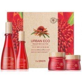Набор The Saem Urban Eco Waratah Skin Care 3 Set (Набор: тонер, 180 мл+лосьон, 140 мл+крем, 30 мл+крем, 60 мл) крем the saem urban eco waratah cream 60 мл