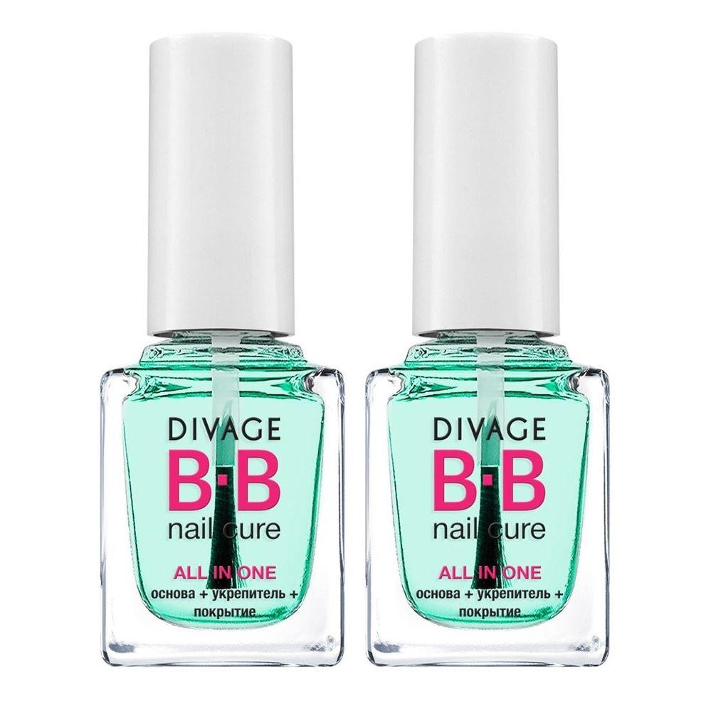 Набор: Лак для ногтей Divage Набор Bb основа+укрепитель+покрытие для ногтей all in one (Набор) стемпинг для ногтей в тц